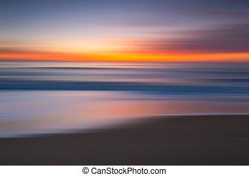 resumen, vista marina, salida del sol