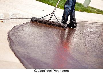 resurfacing, δρόμοs , εργάτης , δρόμοs