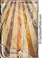 resurgimiento retro, rayo de sol, cartel, plano de fondo, en, color