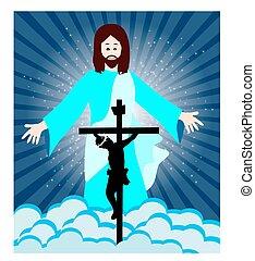 resurrección, crucifixión, jesús
