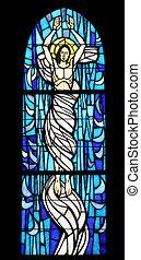 resurrección, de, jesús, cristal manchado