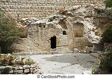 resurrección, lugar, cristo, jesús