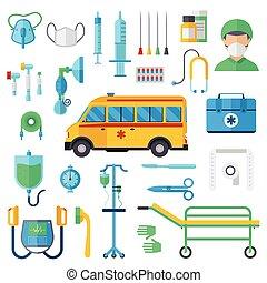 Resuscitation symbols vector illustration.