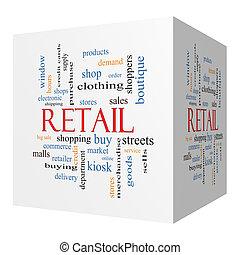 Retail 3D cube Word Cloud Concept
