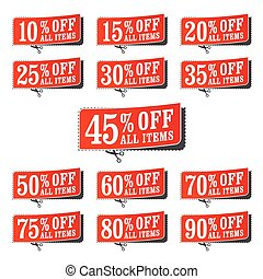Retail Coupons - A set of money off retail coupons