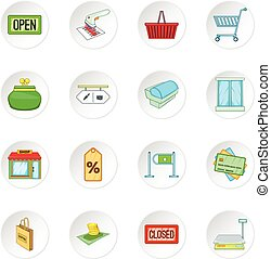 Retail icons set