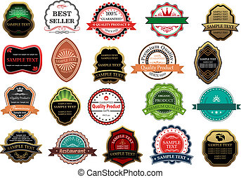Retail labels and banners