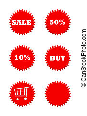 Retail sale buttons - Set of six retail sale buttons...