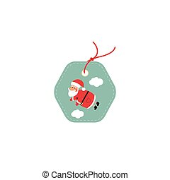 Retail Sale Tags and Clearance Tags. Festive christmas design with Santa Claus.
