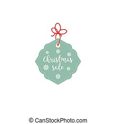 Retail Sale Tags and Clearance Tags. Festive christmas design with snowflakes.