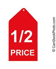 Retail Sales Tag - half price sales tag