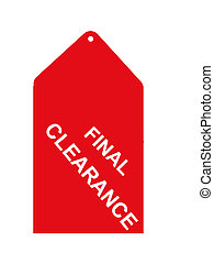 Retail Sales Tag - Red final clearance tag