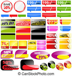 Shopping Tags Collection - Vector Retail Sales Elements