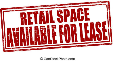 Retail space available for lease - Stamp with text retail...