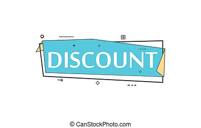 Retail speech bubble with Discount phrase