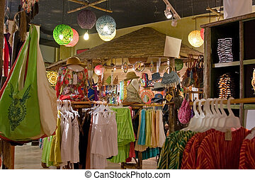 Retail Store Shopping - Interior of a retail store in a...