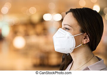 Retail Store Shopping With Face Mask