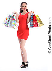 Retail therapy for sexy young woman shopping