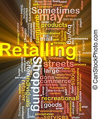 Retailing word cloud box package
