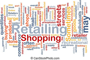 Retailing word cloud - Word cloud concept illustration of ...