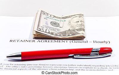 Retainer Agreement with Dollars and pen