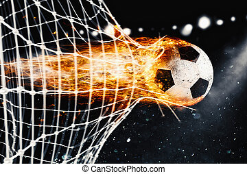 rete calcio, bolide, scopo, decine e decine