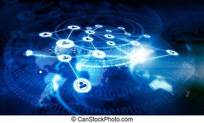 rete, concetto, affari