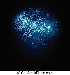 rete globale, e, comunicazioni, fondo