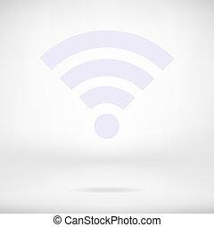 rete, icona, fili, wi-fi