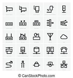 rete, icone
