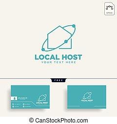 rete, illustrazione, collegamento, vettore, sagoma, casa, logotipo