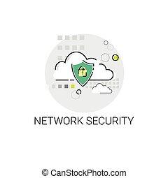 rete informazioni, intimità, protezione, sicurezza internet, dati, icona