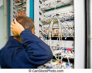 rete, ingegnere, risolvere, il, comunicazione, problema