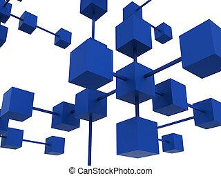 rete, lavorativo, comunicare, insieme, collegato, mostra