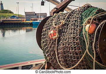 rete pesca, barca
