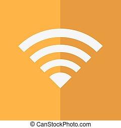 rete, simbolo, wifi, fili, vettore, icona, illustration.