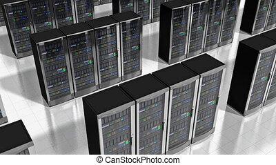 rete, sistema servizio, in, datacenter
