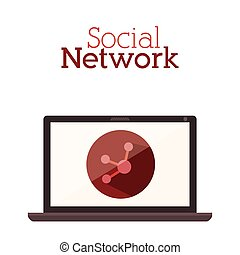 rete, sociale, disegno