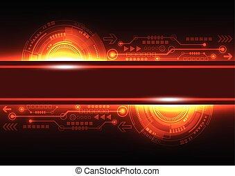 rete, telecom, astratto, vettore, fondo, futuro, tecnologia