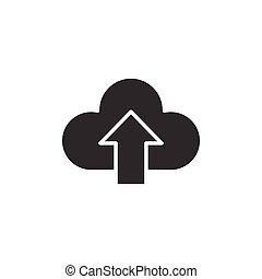 rete, vettore, isolato, fondo., affari illustrazione, digitale, servizio, nube bianca, style., concept., icona, tecnologia, appartamento, computer
