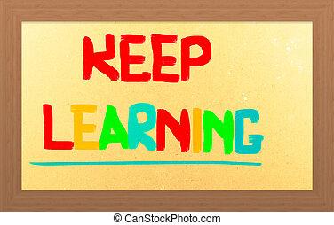 retener, aprendizaje, concepto