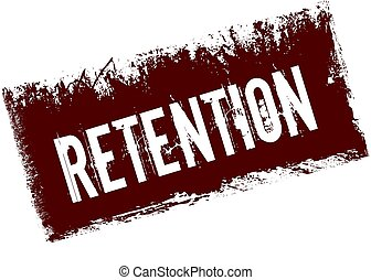 RETENTION on red retro distressed background.