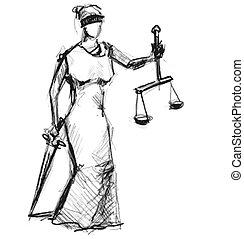 retfærdighed, gudinde, themis, (femida)