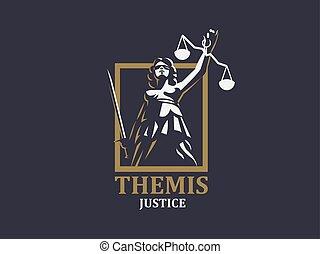 retfærdighed, gudinde, themis.