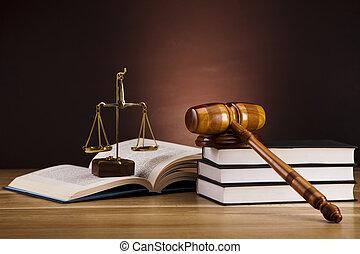 retfærdighed, og, lov