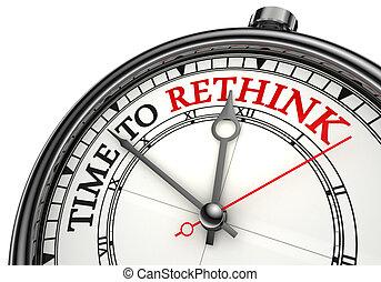 rethink, concetto, orologio tempo