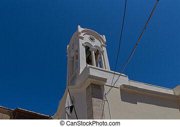 rethymno, タワー, 鐘, 7月, greece., 教会, 26., city., 古い, 2016:, 正統