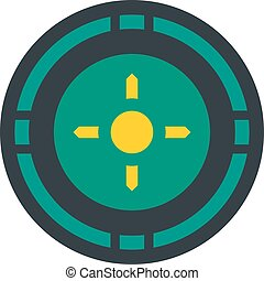Reticle target icon, flat style