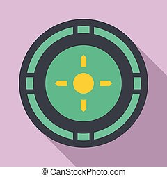 Reticle target icon, flat style - Reticle target icon. Flat...