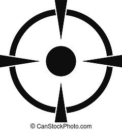 Reticle target icon, simple style - Reticle target icon....